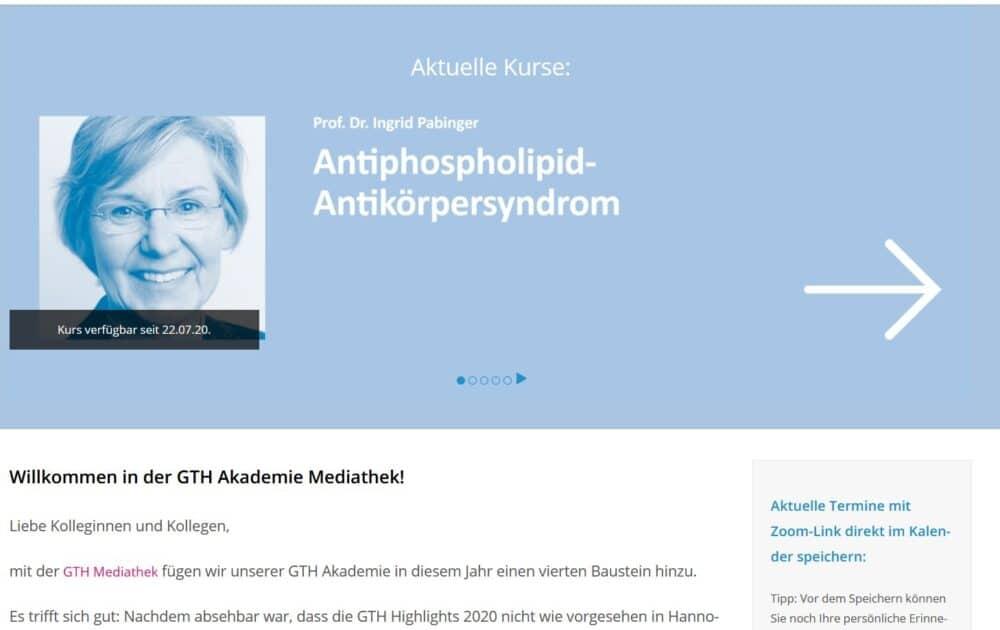 Startseite Mediathek GTH